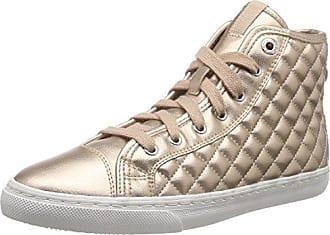 D NEW CLUB, Damen Hohe Sneakers, Violett (DK PURPLEC8016), 37 EU (4 Damen UK) Geox