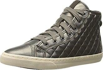 D New Club A, Damen Hohe Sneakers, Schwarz (C0017BLACK/GREY), 37 EU Geox