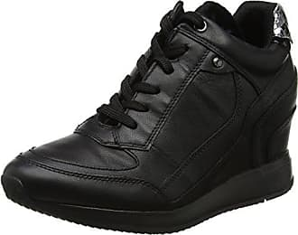 Geox D Hidence a, Zapatillas para Mujer, Schwarz (Black/SILVERC0039), 38 EU