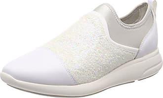 Geox D Sukie Pour Chaussures Femme Blanche (off Blanc / Noir), 36 Eu