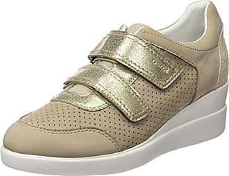 Geox D Maedrys Skin, Schuhe, Flache Schuhe, Espadrilles, Beige, Female, 37