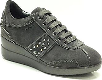 D Stardust, Damen Sneaker, Grau - Anthrazit - Größe: EU 39 Geox