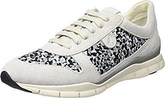 Damen D Sukie A Sneaker, Elfenbein (Off White/Black), 41 EU Geox