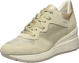 Geox Damen D Omaya A Sneakers, Beige (Lt Taupec6738), 40 EU