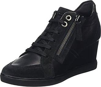 Damen D Sukie B Sneaker, Schwarz (BLACKC9999), 39 EU Geox