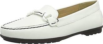 Donna Euxo, Mocasines para Mujer, Blanco (White C1000), 35 EU Geox