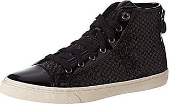 Damen D Giyo A Hohe Sneaker, Schwarz (Black/Gun), 40 EU Geox