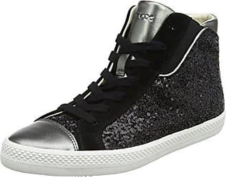 Damen D Giyo A Hohe Sneaker, Schwarz (Black/Gun), 37 EU Geox