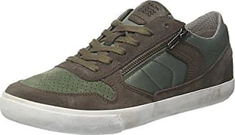 Geox U Box C, Baskets Basses Homme, Marron (Charcoal/Sage), 42 EU