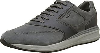 Geox U Happy Art.p, Sneakers Basses Homme, Gris (Stone/Lt Grey), 42 EU