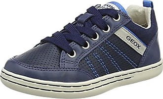 Geox Jr Vita A, Baskets Basses Garçon, Bleu (Navy/White), 28 EU
