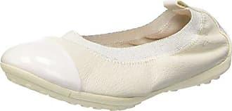 Geox JR Piuma Ballerine B, Mädchen Geschlossene Ballerinas, Weiß (WHITEC1000), 31 EU