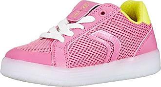 Geox Mädchen J Jensea Girl E Sneaker, Pink (Fuchsia), 36 EU