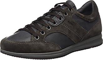 Uomo Snake L, Zapatos de Cuero para Hombre, Negro (Black/Lead C9204), 47 EU Geox