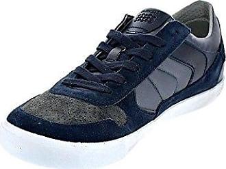 Geox Kiwi B I, Baskets mode garçon - Bleu (Jeans/Orange), 34 EU