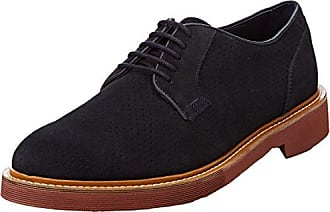 Geox U Uvet a, Zapatos de Cordones Brogue para Hombre, Gris (Stone), 42 EU