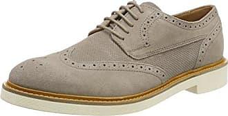 Geox U Damocle B, Zapatos de Cordones Brogue para Hombre, Gris (Taupe), 43 EU