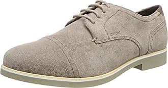 U Damocle B, Brogues Homme, Gris (Taupe), 45 EUGeox