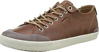 Geox U Clemet a, Zapatillas para Hombre, Marrón (Cognac/Browncotto), 44 EU