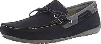 Geox Italy Black, Schuhe, Flache Schuhe, Loafer, Grau, Female, 36