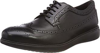 Geox U Uvet a, Zapatos de Cordones Brogue para Hombre, Gris (Stone), 46 EU