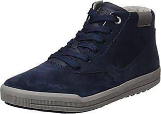 Clarks Lorsen Top - Zapatillas Deportivas Altas de Cuero Hombre, Color Azul, Talla 43