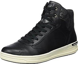 Unisex-Erwachsene J Kalispera Girl B Hohe Sneaker, Schwarz (Black/Gold), 41 EU Geox