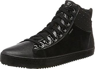 Kalispera E, Baskets Hautes Mixte Adulte, Noir (Black), 7 UKGeox