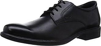 Geox U Hilstone Wide A, Derbys Homme, Noir (Black), 45 EU