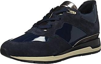 Geox Damen D Avery A Low Top Sneaker, Grau (Dk Grey/Navy), 39 EU (6 UK)
