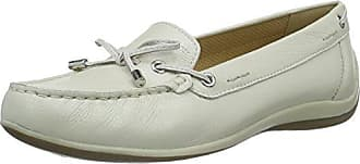 Boat, Mocassins (loafers) femme, Blanc Cassé (Off White), 36 EUMinnetonka