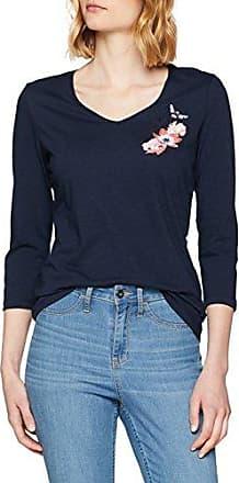 Gerry Weber T-Shirt 3/4 Arm, Camiseta de Manga Larga para Mujer, Azul (Dress Blues 80035), 46