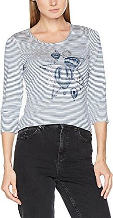 Gerry Weber C Culture Surfing, Camiseta para Mujer, Multicolor (Schwarz/Ecru/Weiss Druck 1098), 38