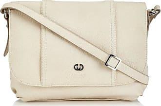 Eyes Flap Bag S 4080002144, Damen Schultertaschen, Weiß (taupe 104), 20x15x6 cm (B x H x T) Gerry Weber
