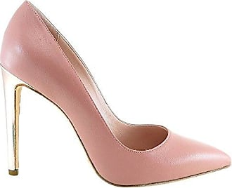 Gianni Marra 4025, Zapatos de Tacón con Punta Abierta para Mujer, Negro (Nappa Nera+Nappa OCRA+Nappa Bianco 18314), 40 EU Gianni Marra