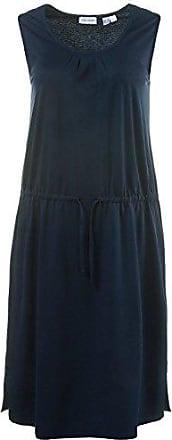 Damen bis Größe 3XL   Kleid   Zierfalte, Verstellbare Taille, ärmellos   Jersey-Stretch   Marine M 172891 71-M GINA LAURA