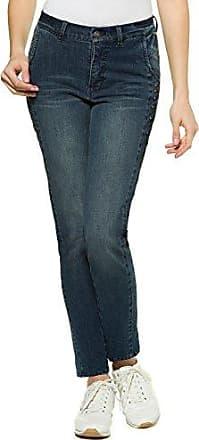 Damen bis Größe 3XL | Jeanshose Anna | Stretch-Jeans | Seitliche Glitzernieten | Boyfriend-Fit | Schmales Bein | Blue Denim 21 715258 92-21 GINA LAURA