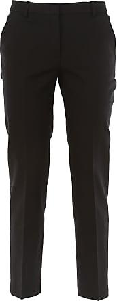 Pants for Women On Sale, Black, Virgin wool, 2017, 12 14 18 Giorgio Armani