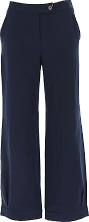 Pants for Women On Sale in Outlet, Dark Blue, Wool, 2017, 10 24 Giorgio Armani