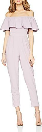 Pink Embroidered Jumpsuit, Combinaison Femme, Rose (Pink 001), 38Girls On Film