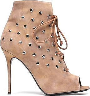 Giuseppe Zanotti Woman Lace-up Studded Suede Ankle Boots Beige Size 36.5 Giuseppe Zanotti 1yXP9s