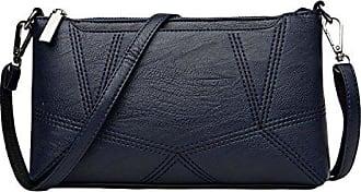 Öl Wax Pitotte Ledertasche Leder Handtasche Messenger Bag Damen Tasche,Black-OneSize GKKXUE