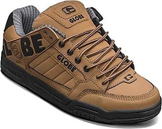 Globe Mahalo, Chaussures de Skateboard Homme - Noir (Black Twill/Brown), 42.5 EU