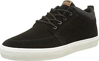 Sabre Nubuck 2, Mens Skateboarding Shoes, Black (Black/Moto Green 10768), 6.5 UK (40 EU) Globe