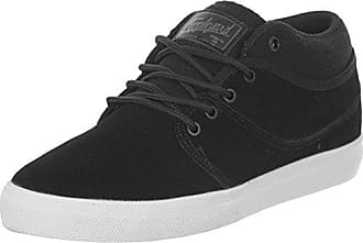 Sabre Nubuck 2, Mens Skateboarding Shoes, Black (Black/Moto Green 10768), 6.5 UK (40 EU) Globe