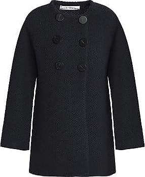 Shopping Online Sale Online Outlet Sale Online Goat Woman Double-breasted Crochet-knit Wool-blend Coat Anthracite Size 16 Goat Cheapest Price Cheap Online Sale Amazing Price Clearance Great Deals Isiq0m6dil