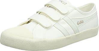Gola Coaster Velcro, Zapatillas para Mujer, Hueso (Off White/Navy/Red Wx), 39 EU