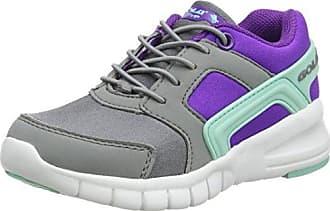 Gola Apex Lite Velcro, Zapatillas Deportivas para Interior Unisex Niños, Gris (Grey/White/Lime), 26 EU
