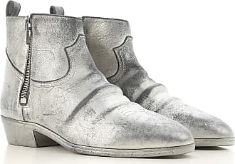 Boots for Women, Booties On Sale, Silver, Leather, 2017, 3.5 4.5 5.5 Golden Goose