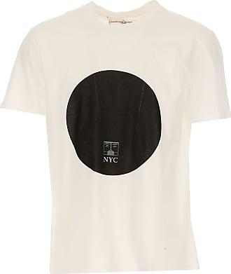 Camiseta de Hombre Baratos en Rebajas Outlet, Blanco, Algodon, 2017, S Golden Goose